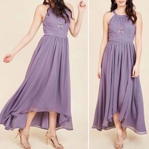 Modcloth Embroidered Hi-Lo Brave New Whirl Maxi